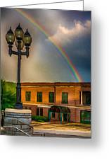 Police At The End Of The Rainbow Greeting Card