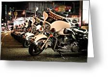 Police Bikes In New York Greeting Card