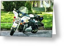 Police - Police Motorcycle Greeting Card