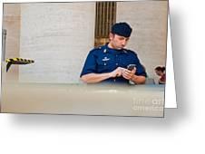 Policeman At St. Peter's Basilica Greeting Card