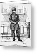 Policeman, C1885 Greeting Card