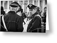 Policemen In Rome Greeting Card