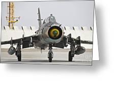 Polish Air Force Su-22 Fitter Greeting Card