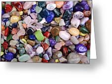Polished Gemstones Greeting Card