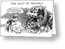 Political Cartoon, 1916 Greeting Card