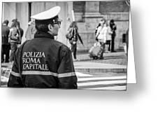 Polizia Roma Capitale Greeting Card