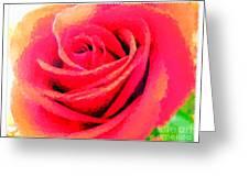 Polka Dot Beautiful Rose Greeting Card