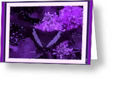 Polka Dot Butterfly Purple Greeting Card