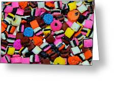 Polka Dot Colorful Candy Greeting Card