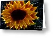 Polka Dot Glowing Sunflower Greeting Card