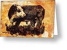 Polled Herford Bull 22 Greeting Card