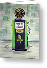 Polly Gas Pump Greeting Card
