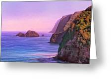 Pololu Valley Sunset Greeting Card