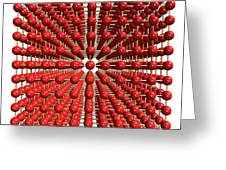 Polonium Crystal Structure Greeting Card