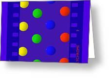 Polychrome Blue Greeting Card