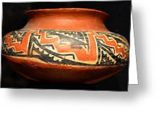 Polychrome Pottery 1100 Ad Greeting Card