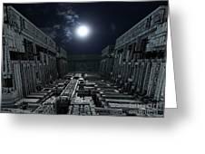 Polychrony Moonlight Greeting Card by Bernard MICHEL