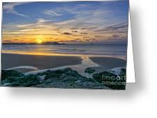 Polzeath Sunset 3 Greeting Card