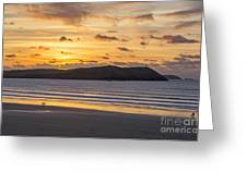 Polzeath Sunset 4 Greeting Card
