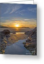 Polzeath Sunset Greeting Card