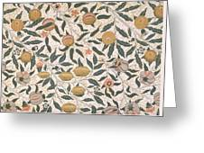 Pomegranate Design For Wallpaper Greeting Card by William Morris
