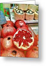 Pomegranates In Open Market Greeting Card