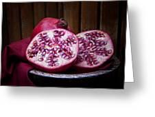 Pomegranate Still Life Greeting Card by Tom Mc Nemar