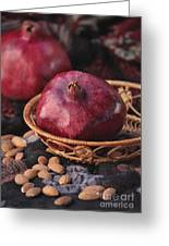 Pomegranates And Almonds Greeting Card