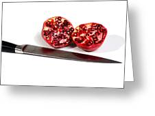 Pomegranates And Knife Greeting Card