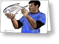 Pompano Catch Of The Day Greeting Card