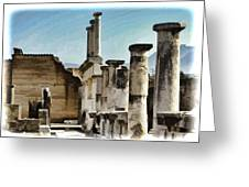 Pompei Ruins Greeting Card