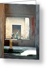 Pompeii Courtyard Greeting Card