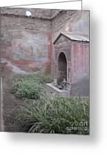 Pompeii Dry Fountain Greeting Card
