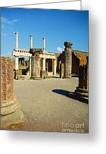 Pompeii In Ruins Greeting Card