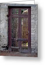 Pompeii Old Door Greeting Card