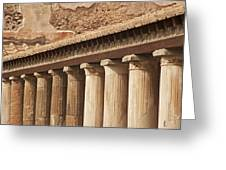 Pompeii Pillars Greeting Card