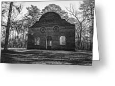 Pon Pon Chapel Of Ease 2 Bw Greeting Card