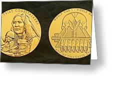 Ponca Tribe Code Talkers Bronze Medal Art Greeting Card