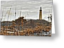 Ponce Inlet Lighthouse From The Dunes Greeting Card