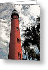 Ponce Lighthouse Artistic Brush Greeting Card