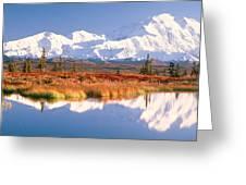 Pond, Alaska Range, Denali National Greeting Card