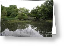 Pond And Bridge Greeting Card