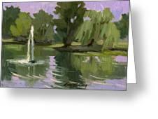 Pond At Fort Dent Tukwilla Greeting Card