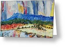 Pond By Massanutten Peak - Sold Greeting Card