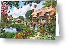Pond Cottage Greeting Card