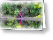 Pond Fishing Photo Art Greeting Card
