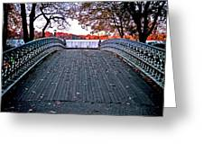 Pond Footbridge Greeting Card