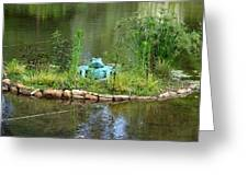 Pond Frog Greeting Card
