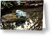 Pond Frog Statuette Greeting Card
