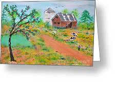 Pond Hill Road Greeting Card